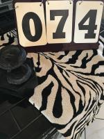 SMALL ZEBRA PRINT THROW AND BATTERY OPERATED FOUNTAIN