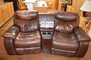 DUAL ROCKER RECLINING LOVESEAT, THEATER STYLE SEATING