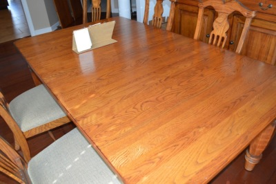 BOB TIMBERLAKE LEXINGTON DINING TABLE WITH 6 CHAIRS - SOLID OAK WITH 2 LEAVES