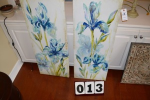 SET OF IRIS CANVAS PRINTS 16X40
