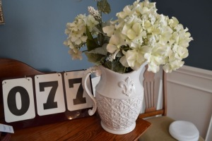 SILK HYDRANGEAS AND VASE