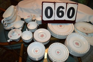 46 PIECE - 8 PLACE SETTINGS HARMONY HOUSE FINE DINNERWARE - MOUNT VERNON DESIGN, MADE IN USA
