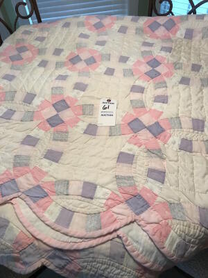 QUEEN SIZE DOUBLE WEDDING RING QUILT